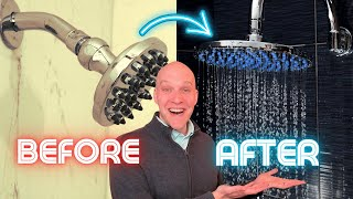 How to install rainfall shower head | Shower extension arm
