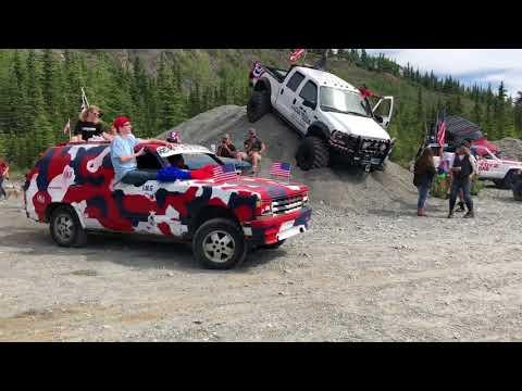 Flying Cars off 300 ft cliff Glacier View Alaska 2018