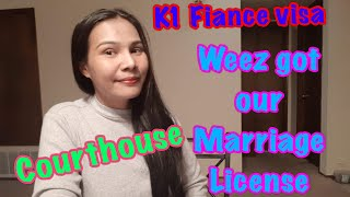 K1 Fiance Visa  - How Weez got our Marriage License #Courthouse #