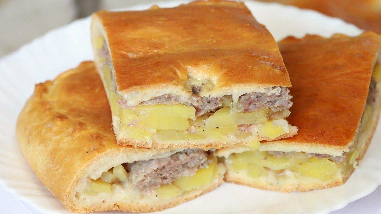 пирог с мясом с картошкой в духовке рецепт с фото
