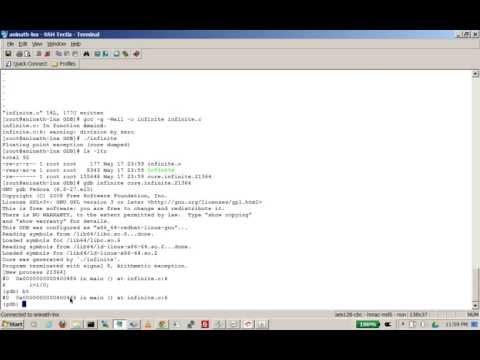 gdb core dump analysis for beginners