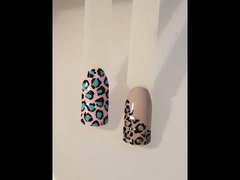 Как сделать леопардовый маникюр
