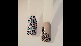 Принт Леопарда на Ногтях.Leopard Nails Tutorial
