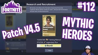 Patch Notes V4.5 | Research & Recruitment, Super Shielder, Stars&Stripes Heroes| Fortnite #112