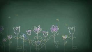 Футаж - фон нарисованные весенние цветы скачать бесплатно