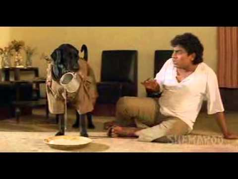 Jony Lever Comedy Scene with Himani Shivpuri, Razak Khan and Dog