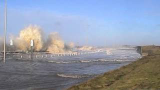 Blackpool and Cleveleys high tide & flood Friday 3 January 2014 Part 1 of 2