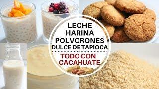 ¡POLVORONES, DULCE DE TAPIOCA, HARINA Y LECHE! TODO CON CACAHUATE (MANÍ) -Transición Vegana