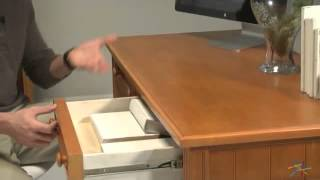 Casey Writing Desk - Honey Maple - Product Review Video