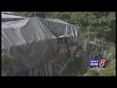 Collapsed House Footage On News 8