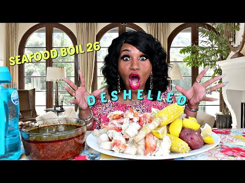Seafood Boil 26, Deshelled Version, I have an ASMR Channel Now
