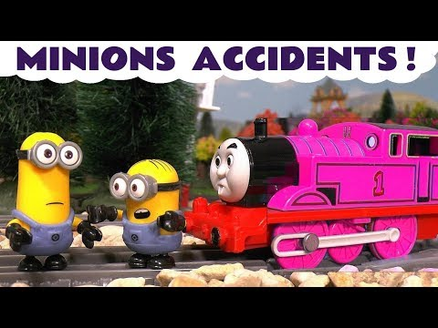 Minions Funny Games with Thomas and Friends Toy Trains and Despicable Me Gru Surprise Eggs TT4U