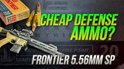 Could This Be The Best Cheap Defense Ammo? Hornady Frontier 62gr SPGel Test