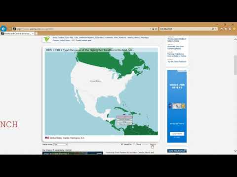 (PB) Seterra - Map Quiz Game - North & Central America:  Countries/Type/Website [0:29]
