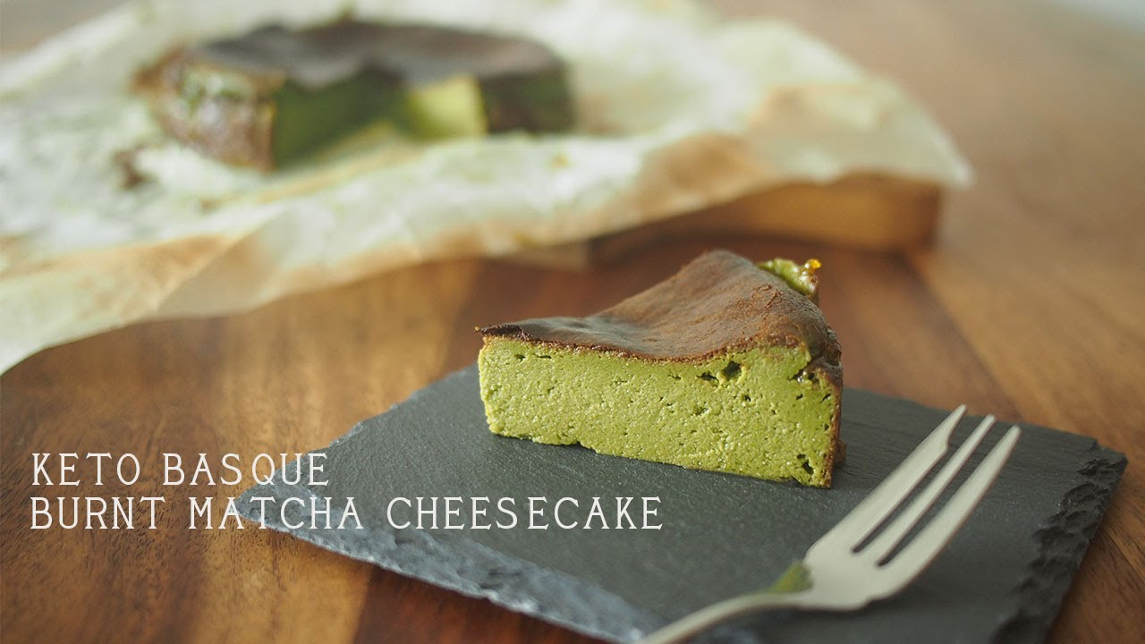 Basque Burnt Matcha Cheesecake Keto Youtube
