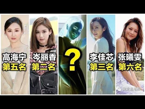港媒選出TVB十大現役美女排名,純粹以外貌比較 ✔