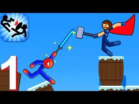Supreme Spider Stickman Warriors - Stick Fight - Gameplay Walkthrough Part 1 (Android Game)