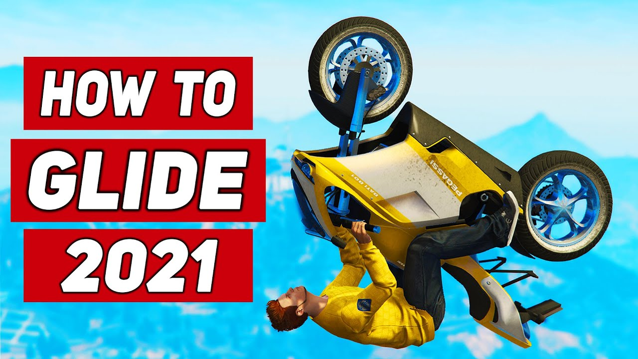HOW TO GLIDE ON A MOTORCYCLE in GTA 5! - (GTA V Gliding Tutorial)