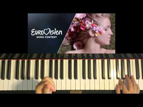 HOW TO PLAY - Gabriela Gun (Gunčíková) - I Stand - Eurovision 2016 CZECH REPUBLIC (Piano Tutorial)