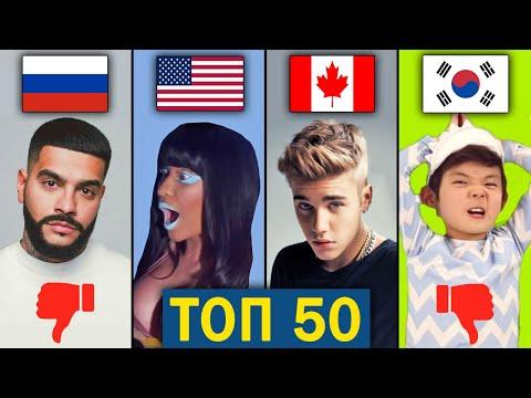 ТОП 50 МИРОВЫХ клипов по ДИЗЛАЙКАМ   Самые задизлайканные песни за всё время   Зарубежные хиты
