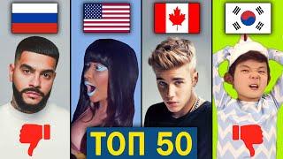 ТОП 50 МИРОВЫХ клипов по ДИЗЛАЙКАМ | Самые задизлайканные песни за всё время | Зарубежные хиты