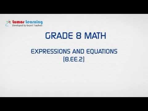 Grade 8 Math - Square & Cube Roots - Free Educational videos for