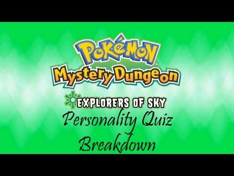 Pokémon Mystery Dungeon: Explorers Of Sky Personality Quiz Breakdown