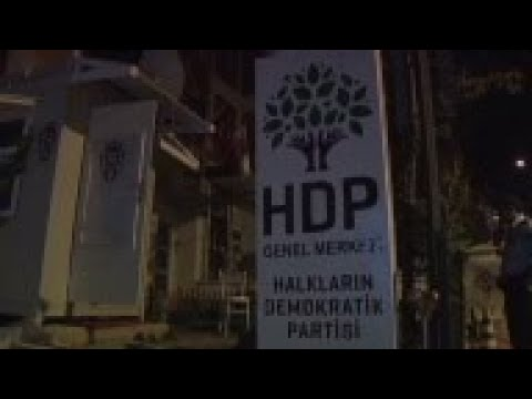 Protest outside pro-Kurdish party in Turkey