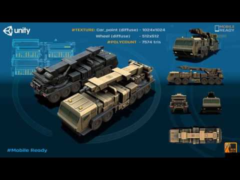 Recovery Truck   Military Vehicle Game Asset for Unity
