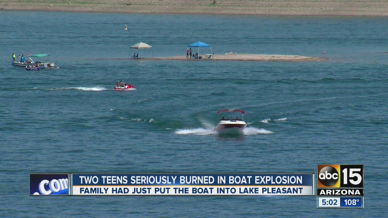 FD: Teen girl burned in Lake Pleasant boat fire - ABC15