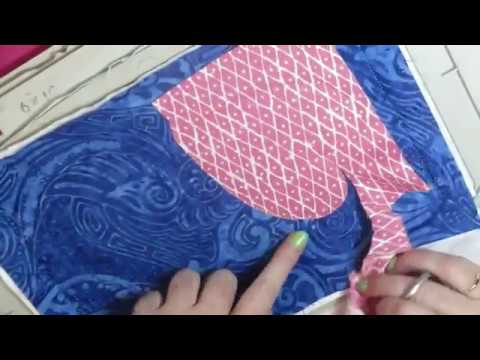 How to trim Applique   in the hoop  machine embroidery