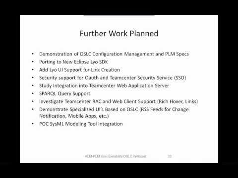 OSLC ALM-PLM Interoperability (4/5) - Parting Shots