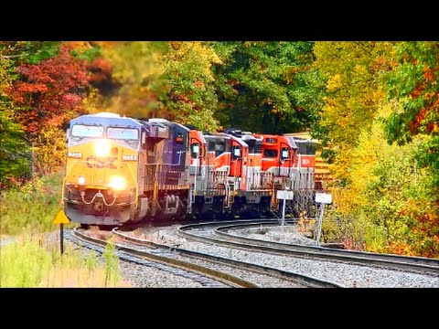 A Great Columbus Day Trip to the B&A in Becket, Ma Ft UP, Ex ATSF GP
