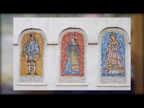 Немецкая слобода, 16 век - мозаичное панно на Бауманской