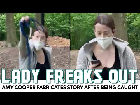 White Lady Freaks Out After Being Caught With Unleashed Dog