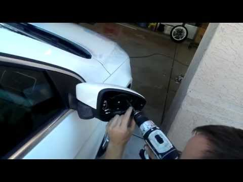 2014 Volkswagen CC Mirror removal to get access to puddle lights.