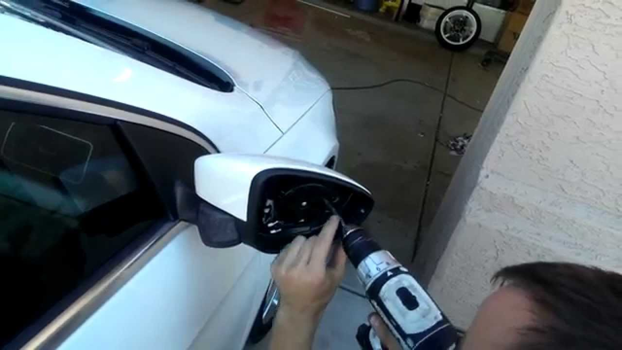 2017 Volkswagen Cc Mirror Removal To Get Access Puddle Lights
