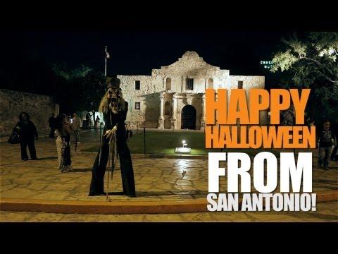 Halloween Monster on Stilts Prank!