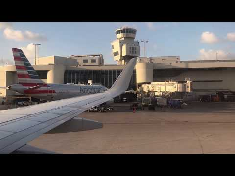 American Airlines (AAL2713) Taking Off From Miami (MIA) To Trinidad (POS)
