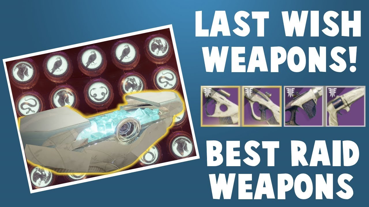 Destiny 2 Last Wish Raid - Best Weapons!! Free Raid Loot