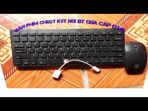 Cách kết nối bàn phím chuột vào ĐT qua OTG lướt web chơi game