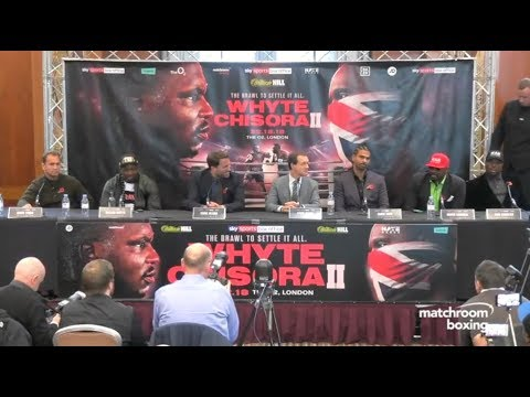 HEATED! - DILLIAN WHYTE v DEREK CHISORA *FULL & UNCUT* PRESS CONFERENCE w/ DAVID HAYE & EDDIE HEARN