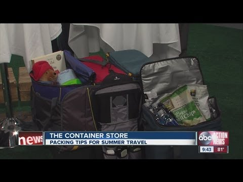 Packing Tips for Summer Travel-The Container Store