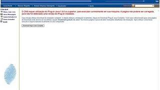 Erro: O CNS requer utilização do Plug-in Java 1.5.0 ou superior | Com enrolação