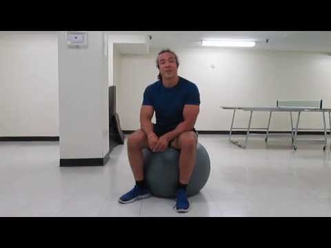 How to use a stability ball as an office chair