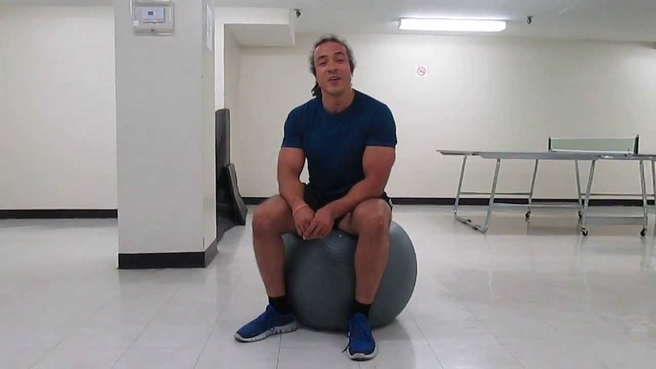 how to use a stability ball as an office chair - youtube