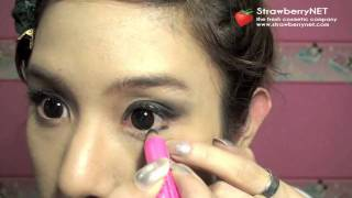 strawberrynet s how to dramatic eyes makeup tutorial thai with english subtitle
