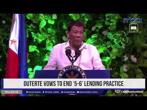 Duterte vows to end '5 6' lending practice