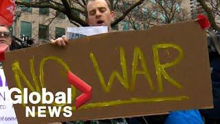'No War With Iran' rally turns heated in Toronto