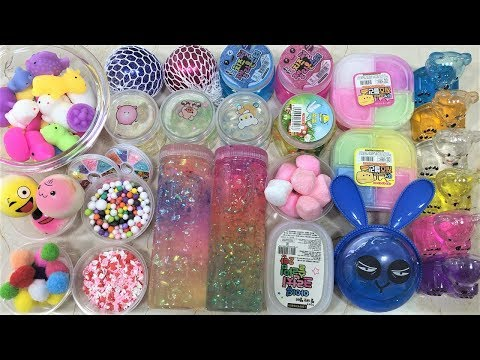 Mixing Random Things into Store Bought Slime !! Relaxing Slimesmoothie Satisfying Slime Videos #60